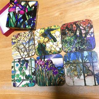 ティファニー(Tiffany & Co.)の【新品】ティファニー  コースター 6枚セット 箱付き お花 カラフル(テーブル用品)