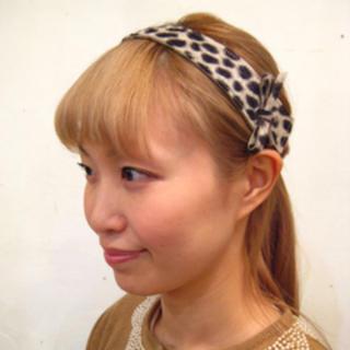 ミナペルホネン(mina perhonen)のhitomi shinoyama design レオパード柄ヘアバンド mina(ヘアバンド)