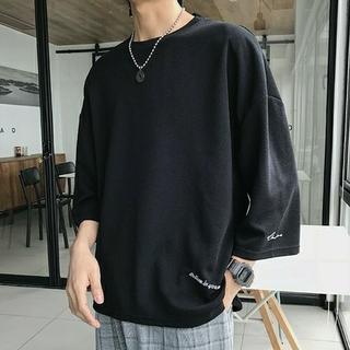 ビッグシルエットTシャツ ブラック Lサイズ(Tシャツ/カットソー(半袖/袖なし))