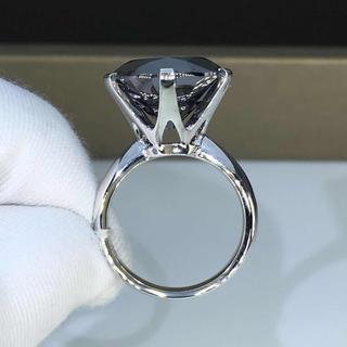 【newデザイン】ブラックモアサナイト  ダイヤモンド リング(リング(指輪))