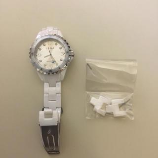 イエナ(IENA)のIENA×ANAコラボ機内限定販売★ホワイトセラミックウォッチ★腕時計(腕時計)