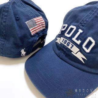 ポロラルフローレン(POLO RALPH LAUREN)の新品 ラルフローレン コットンチノベースボールキャップ 56㎝ ブルー(帽子)