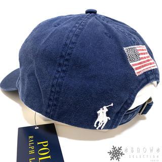ポロラルフローレン(POLO RALPH LAUREN)の新品 ラルフローレン コットンチノベースボールキャップ 52㎝ ブルー(帽子)
