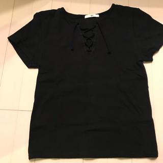 スライ(SLY)のSLY レースアップ Tシャツ リブ(Tシャツ(半袖/袖なし))