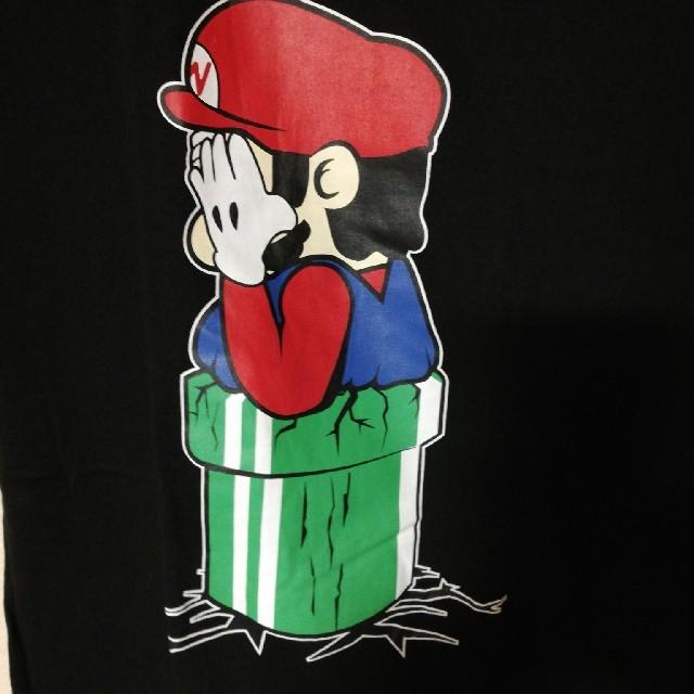 スーパー人気ゲームキャラクター Mサイズ ブラック パロディtシャツ