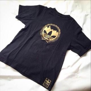 アディダス(adidas)のアディダス♡ゴールドプリントTシャツ(Tシャツ/カットソー(半袖/袖なし))