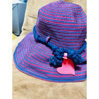 ヴィヴィアンウエストウッド(Vivienne Westwood)のヴィヴィアンオーブハートボーダーハット帽子女優帽二階堂ふみ椎名林檎益若つばさ(ハット)