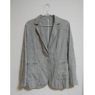 ムジルシリョウヒン(MUJI (無印良品))のフレンチリネン ジャケット グレー(テーラードジャケット)