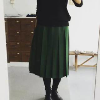 YAECA - シャルパンティエ ドゥ ヴェッソ ウールプリーツスカート