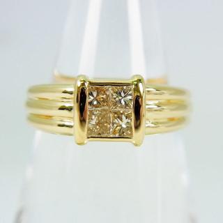 K18 淡ブラウンダイヤモンド リング 11.5号 [f35-11](リング(指輪))