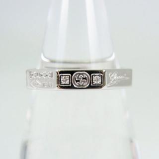 グッチ(Gucci)のグッチ 750WG オクタゴン ダイヤモンド リング 11号[f35-2](リング(指輪))