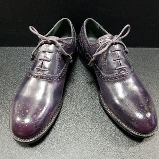 ゼノービ(Zenobi) イタリア製革靴 濃紫 43(ドレス/ビジネス)