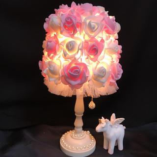 バラ 薔薇 ローズ アンティーク調ライト テーブルランプ 間接照明 ランプ(その他)