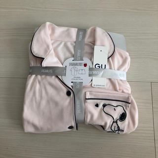 GU - GU 新品未使用 半袖 ショートパンツ ピンク スヌーピー