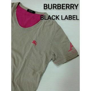 バーバリーブラックレーベル(BURBERRY BLACK LABEL)のBURBERRY BLACK LABEL 半袖Tシャツ サイズ:2(Tシャツ/カットソー(半袖/袖なし))