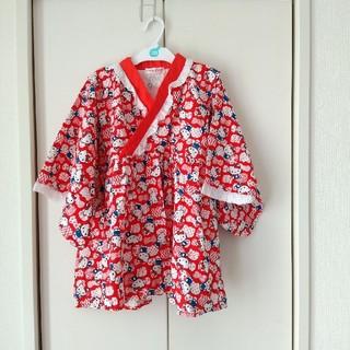 ハローキティ(ハローキティ)のハローキティ♡ワンピース型浴衣♡女の子120cm(甚平/浴衣)