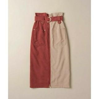 レディアゼル(REDYAZEL)の☆REDYAZEL☆バイカラーフロントZIPタイトスカート☆(ひざ丈スカート)