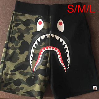 BAPE HALF CAMO SHARK SHORTPANTS