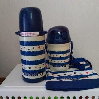 ミキハウス(mikihouse)のお取り置き  ダブルB 水筒 ストローホッパー コップ袋 中古 プッチー水筒新品(水筒)
