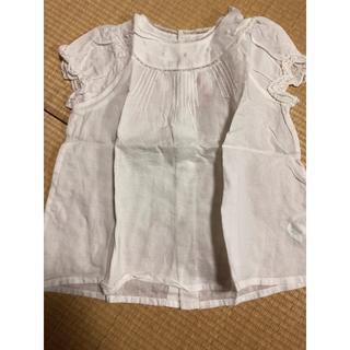 Bonpoint - Bonpoint ホワイト色刺繍入りブラウス 24M