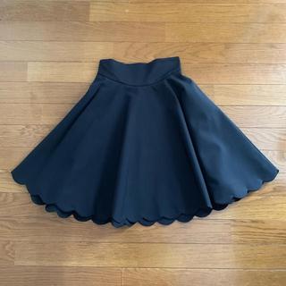 ミュウミュウ(miumiu)のmiumiu スカラップ フレアスカート(ひざ丈スカート)