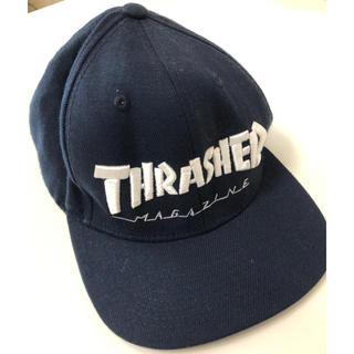スラッシャー(THRASHER)のTHRASHER  キャップ(紺色)(キャップ)