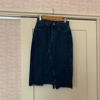 リズリサ(LIZ LISA)のリズリサ 膝丈デニムスカート 新品タグ付き(ひざ丈スカート)