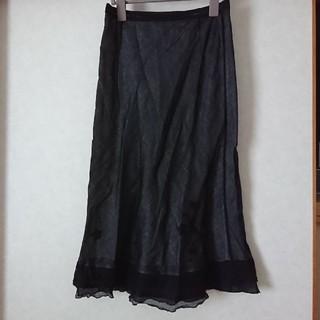 ツモリチサト(TSUMORI CHISATO)のお値下げ!TSUMORI CHISATOの花の刺繍入りスカート(ロングスカート)