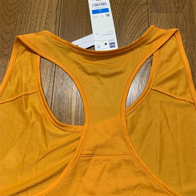 GU(ジーユー)の未使用GU スポーツ タンクトップXL オレンジ色フィットネス、ダンス用に スポーツ/アウトドアのスポーツ/アウトドア その他(ダンス/バレエ)の商品写真