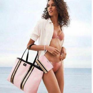 ヴィクトリアズシークレット(Victoria's Secret)のVICTORIA'S SECRET トートバッグ ビーチバッグ お揃いのポーチ付(トートバッグ)