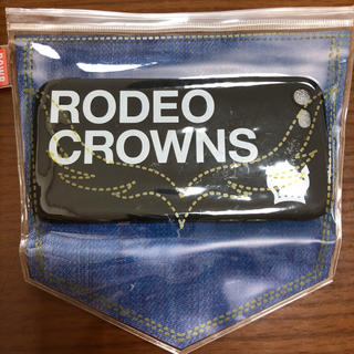 ロデオクラウンズワイドボウル(RODEO CROWNS WIDE BOWL)の新品 未使用 ロデオクラウンズ  iphone8  シリコンケース ブラック(iPhoneケース)