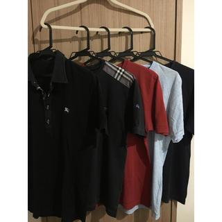 バーバリーブラックレーベル(BURBERRY BLACK LABEL)の5着セット。サイズ2。(Tシャツ/カットソー(半袖/袖なし))
