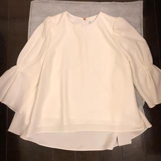 スナイデル(snidel)の新品タグ付きセルフォードブラウス サイズ38(Tシャツ(長袖/七分))