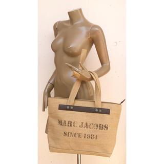 マークジェイコブス(MARC JACOBS)の一回短時間使用 美品 マークジェイコブスのジュート×本革トートバッグ(トートバッグ)