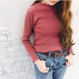 クリスプ(Crisp)のクリスプ♡リブメロウTシャツ(Tシャツ(長袖/七分))