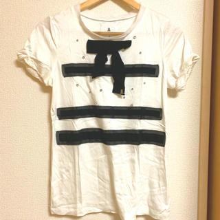 ランバンオンブルー(LANVIN en Bleu)のLANVIN en Bleu ビジューリボンTシャツ(Tシャツ(半袖/袖なし))