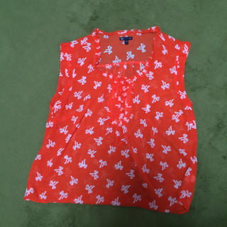 ギャップ(GAP)のGAP☆オレンジ☆ノースリーブ☆ブラウス(シャツ/ブラウス(半袖/袖なし))