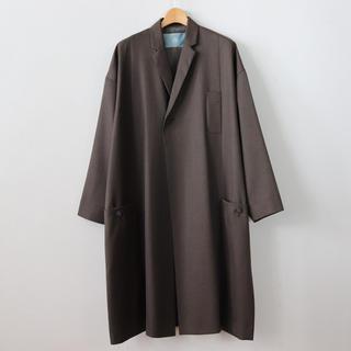 ドゥルカマラ(Dulcamara)のDulcamara 18ss よそいきパネルポケットコート ブラウン 美品(ステンカラーコート)