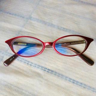 アランミクリ(alanmikli)のGLASS FACTORY 眼鏡  度無し 赤 セルフレーム(サングラス/メガネ)