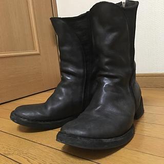 イサムカタヤマバックラッシュ(ISAMUKATAYAMA BACKLASH)のincarnation カーフレザー サイドゴア バックジップ ブーツ 42(ブーツ)