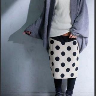 アンティカ(antiqua)の新品未使用♡アンティカスカート レディース 膝丈スカート ドット柄(ひざ丈スカート)
