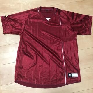デサント ベースボールシャツ エンジ Sサイズ