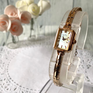 アガット(agete)の【美品】agete アガット 腕時計 0.02ct ピンクゴールド(腕時計)