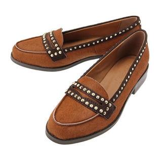 アングリッド(Ungrid)のungrid アングリッド スタッズハラコシューズ パンプス ドレスシューズ(ローファー/革靴)