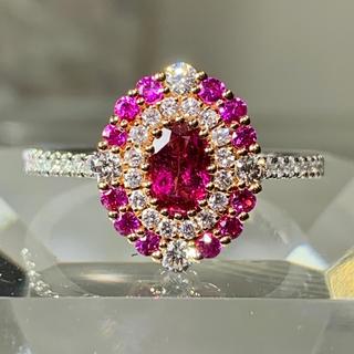 ルビー ピンクサファイヤ ダイヤモンド k18 ダイヤモンドリング(リング(指輪))