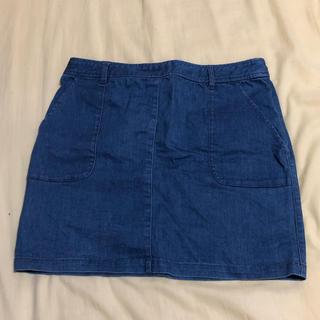 ローリーズファーム(LOWRYS FARM)のデニムスカート(8月いっぱいで出品終了)(ミニスカート)