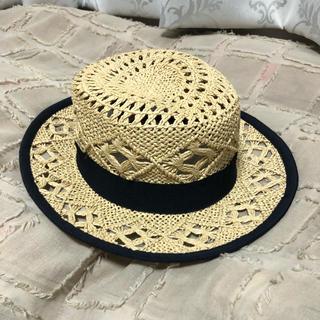 メゾンドリーファー(Maison de Reefur)の梨花さん着用♡デザインストローハット(麦わら帽子/ストローハット)