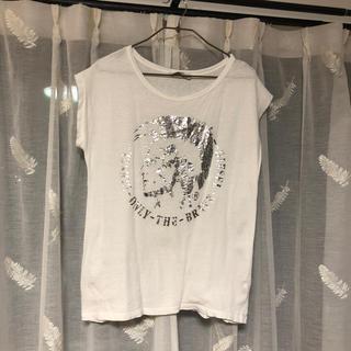 ディーゼル(DIESEL)のディーゼル DIESEL Tシャツ 白 シルバー 正規品 M〜L(Tシャツ(半袖/袖なし))