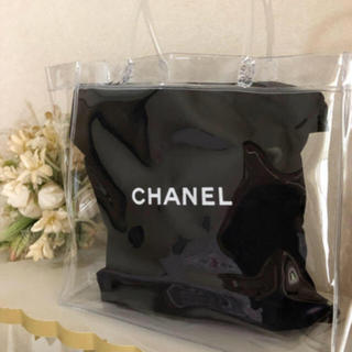 シャネル(CHANEL)のCHANEL♡保存袋 巾着袋♡クリアバッグ付き(ショップ袋)