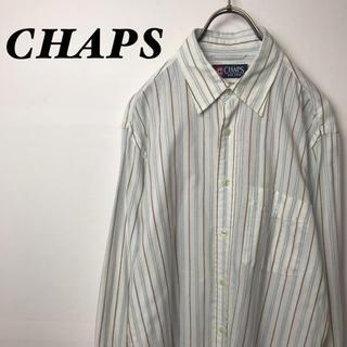 チャップス(CHAPS)の古着 CHAPS チャップス ストラップ 長袖 シャツ (シャツ)